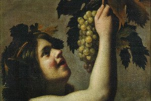 Happy young Bacchus: icon of a painting by Tommaso Salini